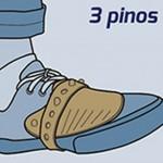 Experimente o fechamento com 3 pinos (saltando o primeiro), para melhor ajuste a seu tipo de calçado.