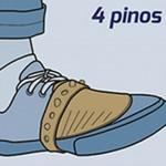 Experimente 4 pinos para cobrir mais a ponta do calçado.